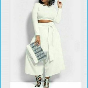 Pants - NWOT 2pc White Set